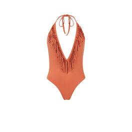 Maillot de bain une pièce camel doussiz brown.
