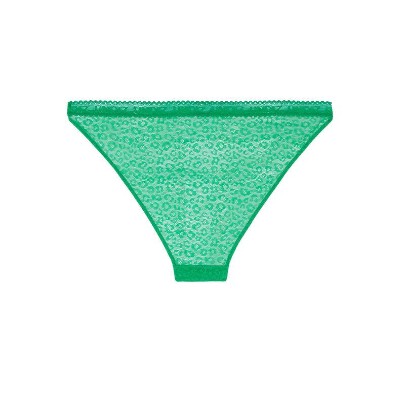 culotte en dentelle à motifs - vert;