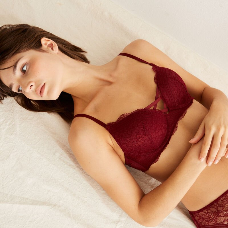 Soutien-gorge ultra push-up - bordeaux;