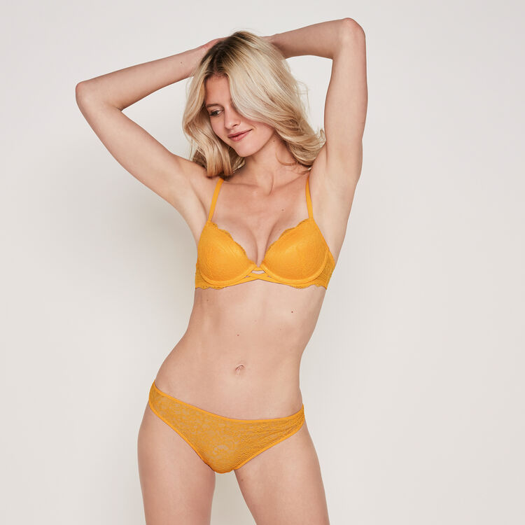 Soutien-gorge push safran everydayiz orange.